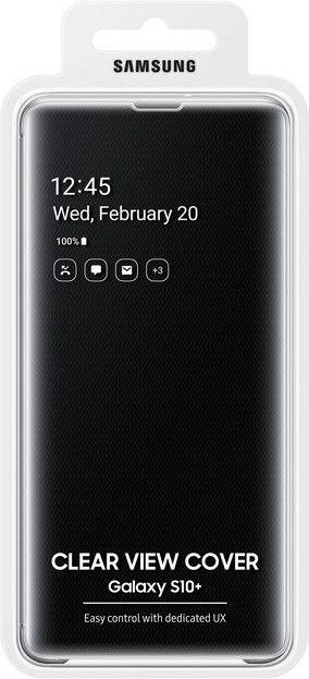 Чехол-книжка Samsung Clear View Cover для Samsung Galaxy S10 Plus (EF-ZG975CBEGRU) Black от Територія твоєї техніки - 5