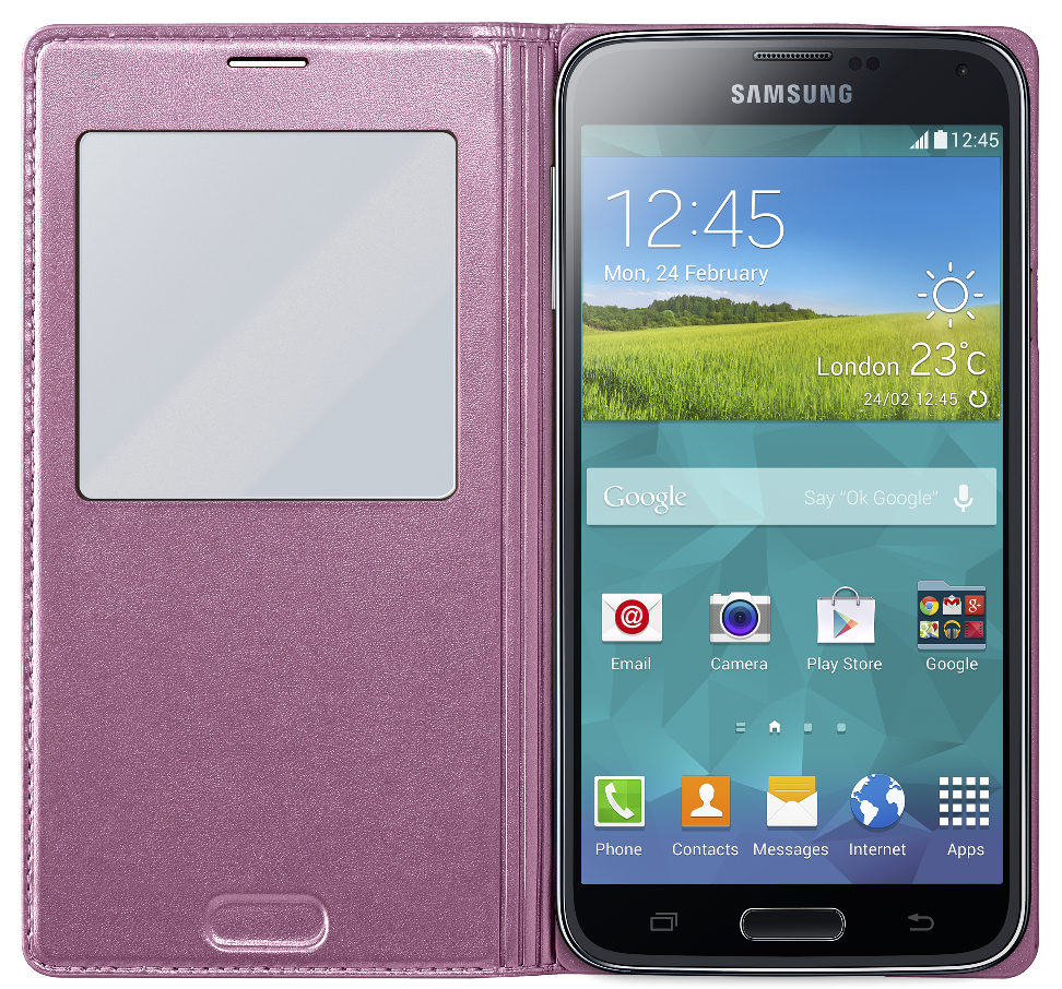 Чехол Samsung S View для Samsung Galaxy S5 Pink (EF-CG900BPEGRU) - 2