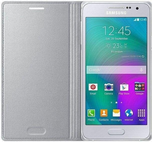 Чехол Samsung Flip Cover для Samsung Galaxy A3 Silver (EF-FA300BSEGRU) - 2