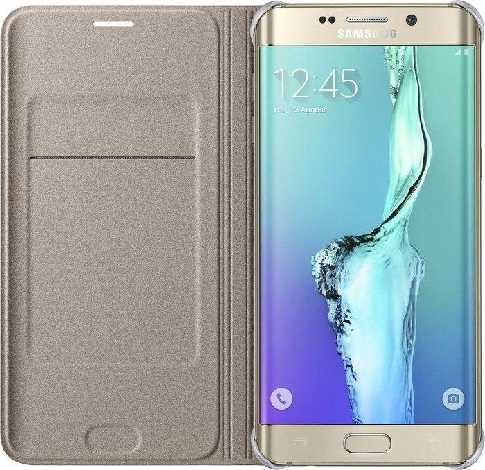 Чехол Samsung Flip Wallet для Samsung Galaxy S6 edge+ Gold (EF-WG928PFEGRU) - 2
