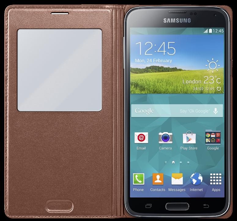 Чехол Samsung S View для Samsung Galaxy S5 Rose (EF-CG900BFEGRU) - 1
