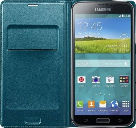 Чехол Samsung Flip Wallet для Galaxy S5 Green (EF-WG900BGEGRU) - 1