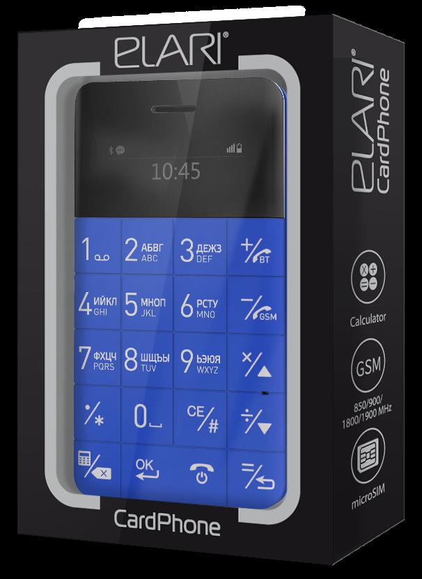 Мобильный телефон Elari CardPhone Blue (LR-CP-BL) - 1