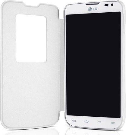 Чехол LG QuickWindow для LG Optimus L90 D405 White (CCF-380.AGEUWH) - 1