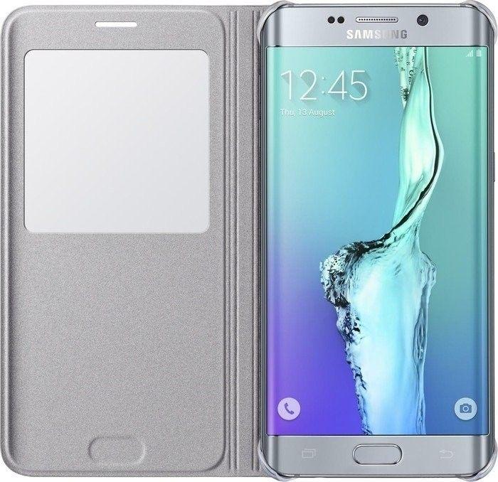 Чехол Samsung S View Cover для Samsung Galaxy S6 edge+ Silver (EF-CG928PSEGRU) - 1