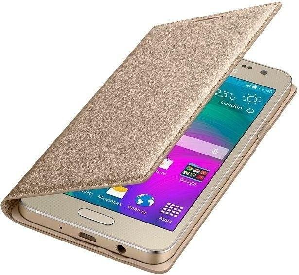 Чехол Samsung Flip Cover для Samsung Galaxy A3 Gold (EF-FA300BFEGRU) - 3