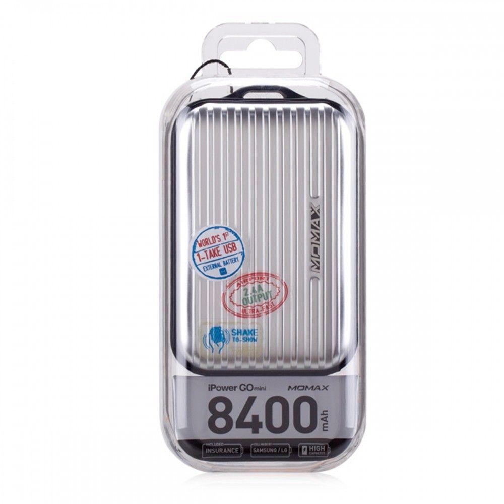 MOMAX iPower GO Mini+ Luggage External Battery Pack 10000mAh Grey (IP36AD2) - 2