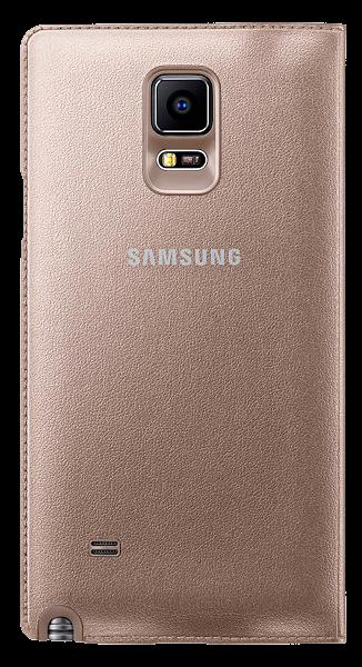 Чехол Samsung LED Flip Wallet для Samsung Galaxy Note 4 N910H Gold (EF-NN910BEEGRU) - 3