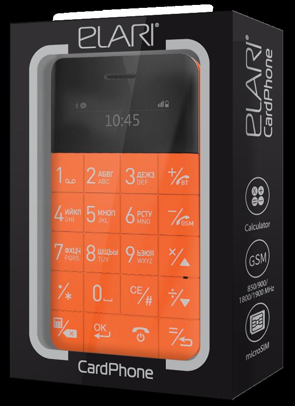 Мобильный телефон Elari CardPhone Orange (LR-CP-RNG) - 1