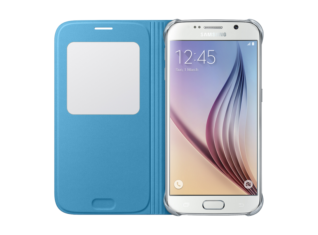 Чехол Samsung S View Zero для Samsung Galaxy S6 Blue (EF-CG920PLEGRU) - 2