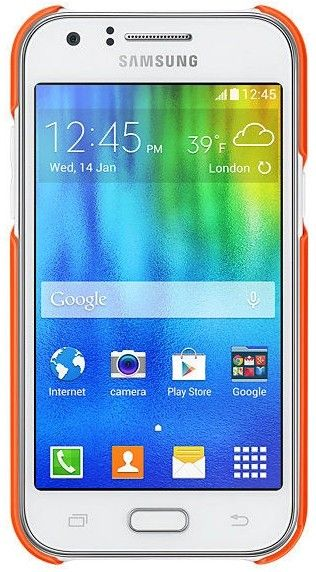 Накладка Samsung EF-PJ100B для Samsung Galaxy J1 J100H Orange (EF-PJ100BOEGRU) - 2