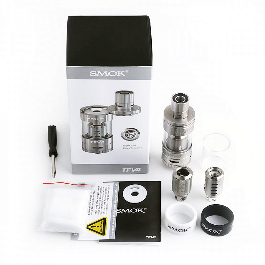 Атомайзер Smok TFV4 Mini Full Kit Stainless (SMTFV4MFKSL) - 2