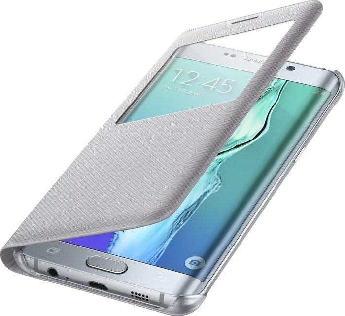 Чехол Samsung S View Cover для Samsung Galaxy S6 edge+ Silver (EF-CG928PSEGRU) - 3