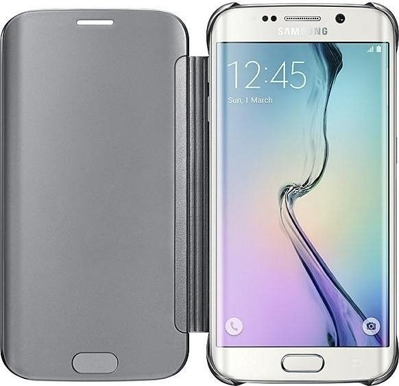 Чехол Samsung Clear View для Samsung Galaxy S6 Edge Silver (EF-ZG925BSEGRU) - 2