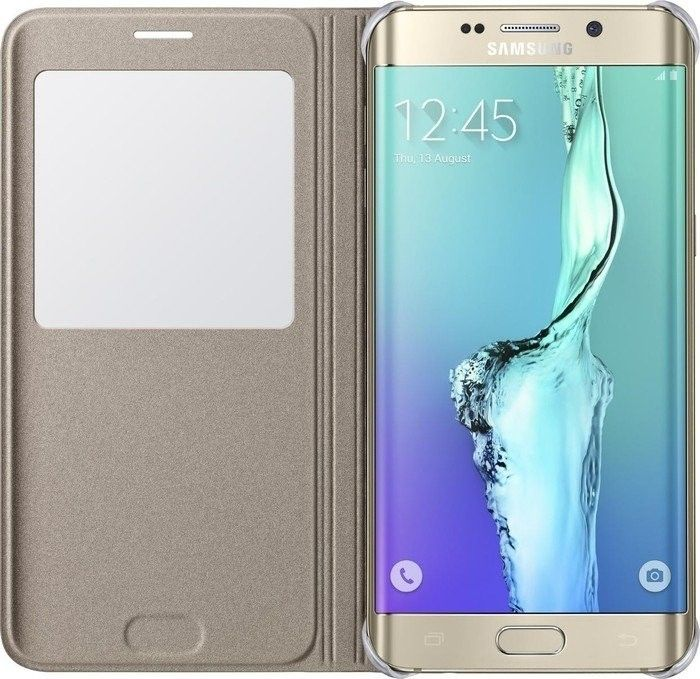 Чехол Samsung S View Cover для Samsung Galaxy S6 edge+ Gold (EF-CG928PFEGRU) - 2