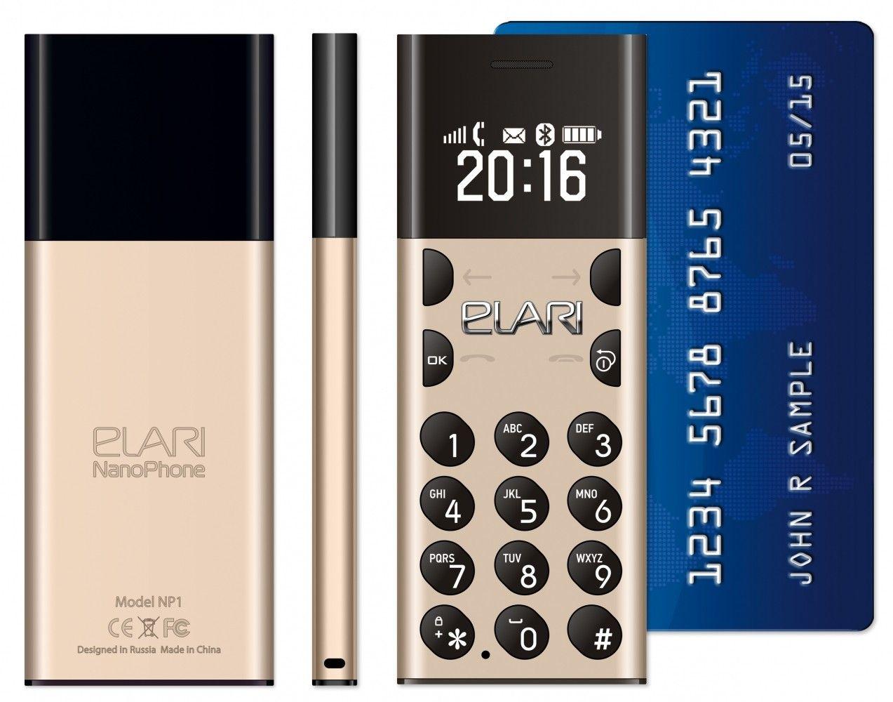 Мобильный телефон ELARI NanoPhone Gold (LR-NP-GLD) - 4