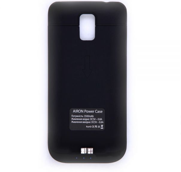 Чехол-аккумулятор AIRON Power Case для Samsung Galaxy S5 Black - 1