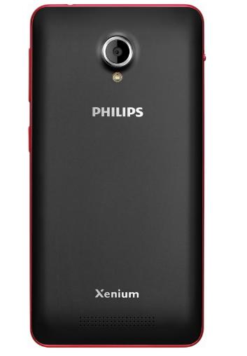 Мобильный телефон Philips Xenium V377 Black-Red - 2