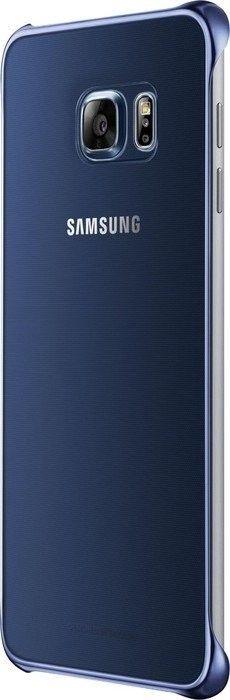 Чехол Samsung Clear Cover для Samsung Galaxy S6 edge+ BlueBlack (EF-QG928CBEGRU) - 4