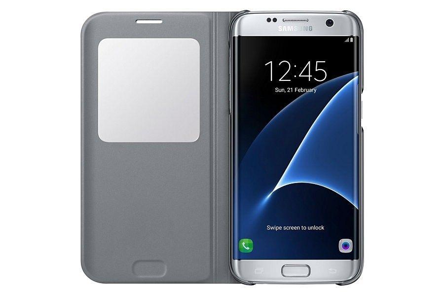Чехол Samsung S View для Galaxy S7 Silver (EF-CG930PSEGRU) - 1