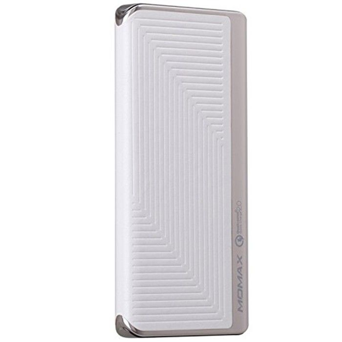 MOMAX iPower Elite+ External Battery Pack 8000mAh QC2.0 Emboss White (IP52BW) - 6