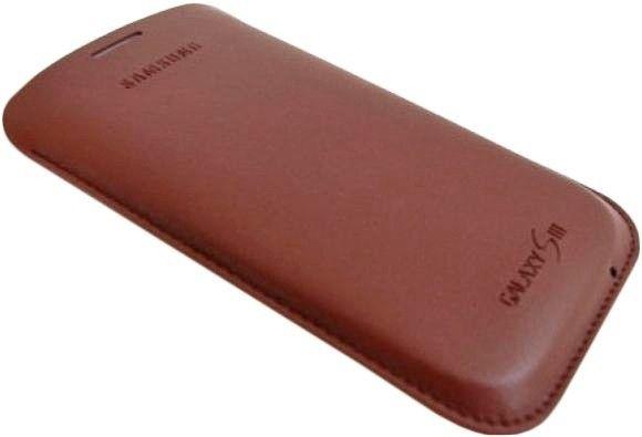 Чехол Samsung для Galaxy SIII i9300 Dark Brown (EFC-1G6LDECSTD) - 2