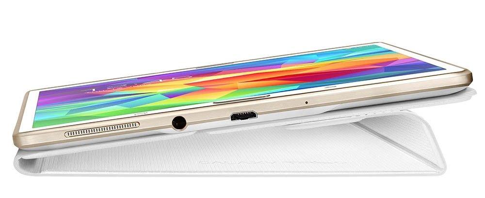 """Чехол Samsung для Galaxy Tab S 8.4"""" EF-BT700WWEGRU Dazzling White - 5"""