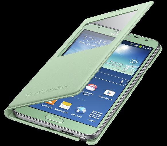 Чехол Samsung S View EF-CN750BMEGRU Mint для Galaxy Note 3 Neo - 3