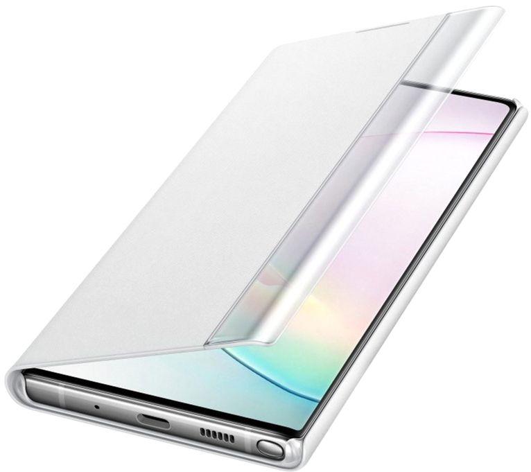 Чехол-книжка Samsung Clear View Cover для Samsung Galaxy Note 10 Plus (EF-ZN975CWEGRU) White от Територія твоєї техніки - 4