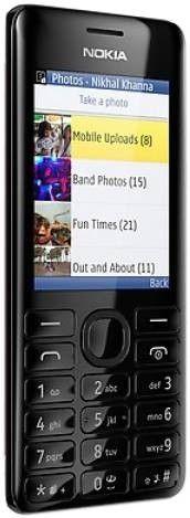 Мобильный телефон Nokia 206 Asha Dual Sim Black - 1
