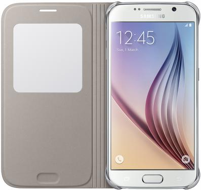Чехол Samsung S View Zero для Samsung Galaxy S6 Gold (EF-CG920BFEGRU) - 2