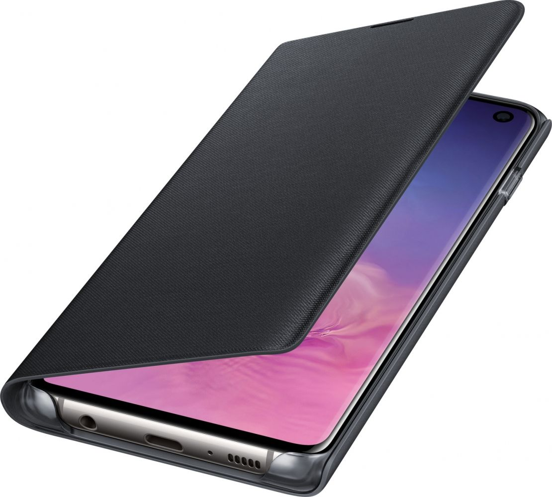 Чехол-книжка Samsung LED View Cover для Samsung Galaxy S10 (EF-NG973PBEGRU) Black от Територія твоєї техніки - 4