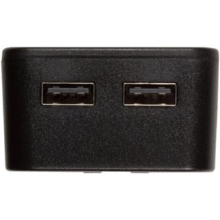 Сетевое зарядное устройство Tylt Wall Travel Charger 4,2A Dual USB Port Black-Blue (USBTC42BL-EUK) - 2