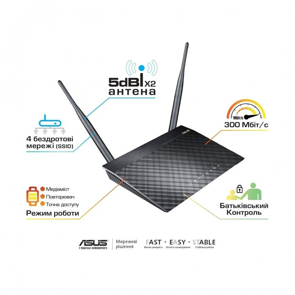 Wi-Fi роутер ASUS RT-N12 D1 - 1