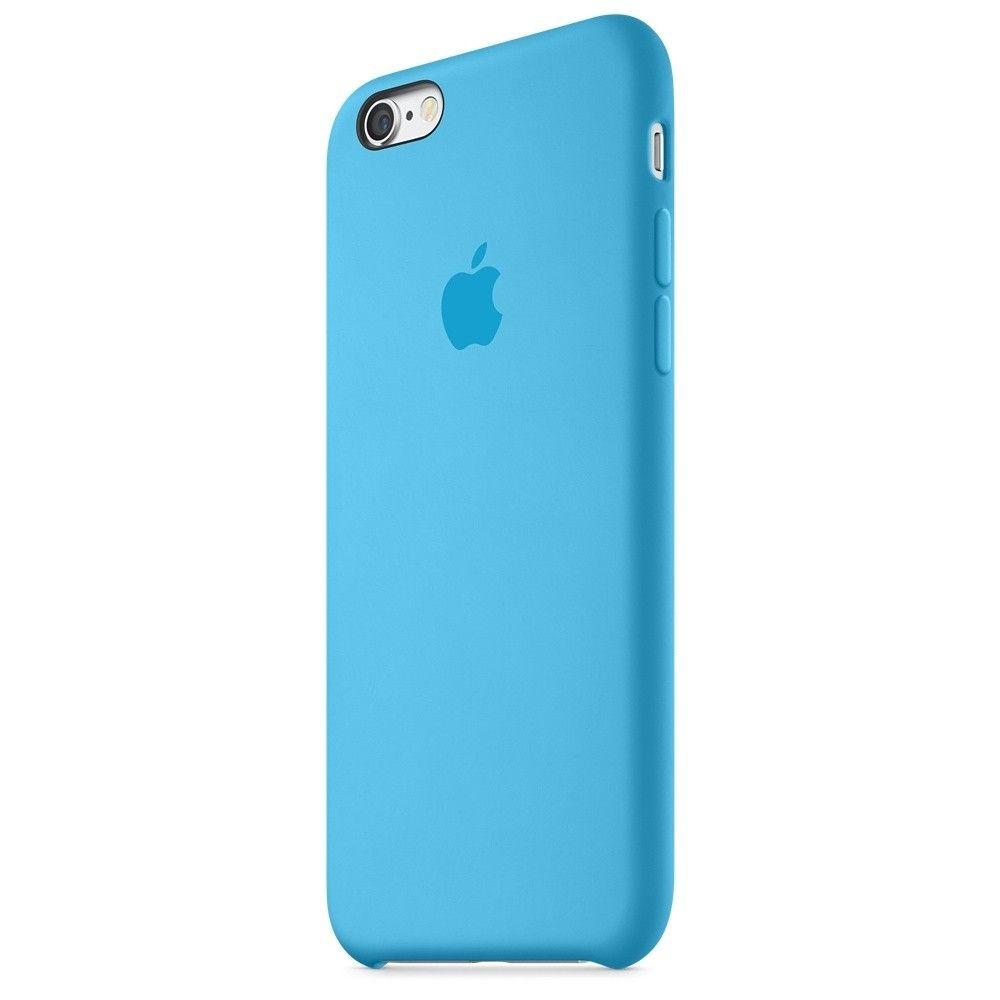 Силиконовый чехол Apple iPhone 6s Plus Silicone Case (MKXP2) Blue - 3