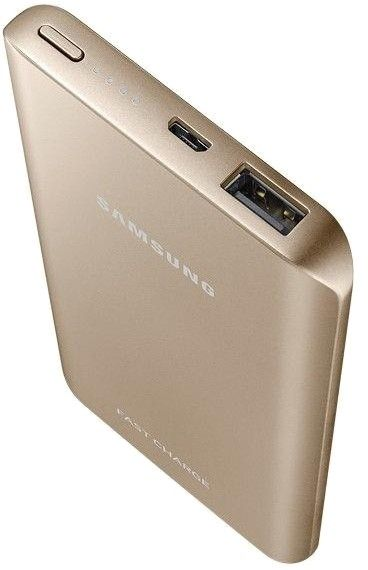 Портативная батарея Samsung Fast Charging Battery Pack 5200 mAh Gold (EB-PN920UFRGRU) - 2