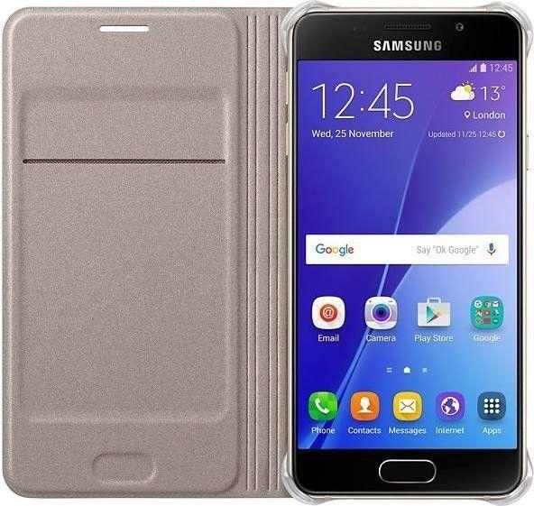 Чехол-книжка Samsung A510 EF-WA510PFEGRU Gold - 3