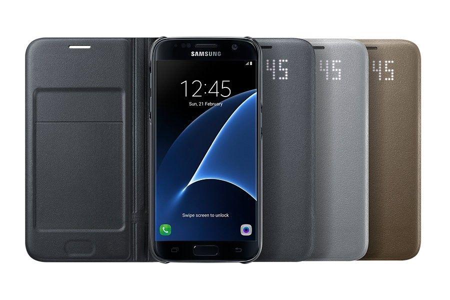Чехол Samsung LED View для Galaxy S7 Edge Silver (EF-NG935PSEGRU) - 2