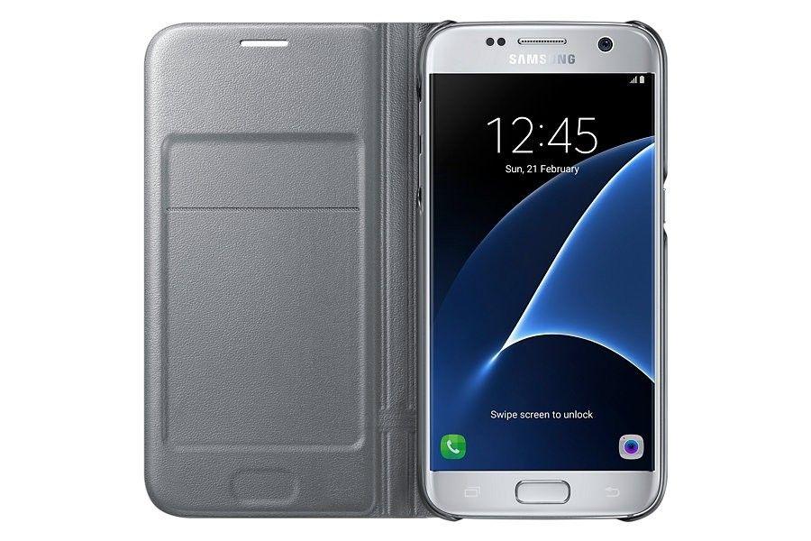 Чехол Samsung LED View для Galaxy S7 Edge Silver (EF-NG935PSEGRU) - 3