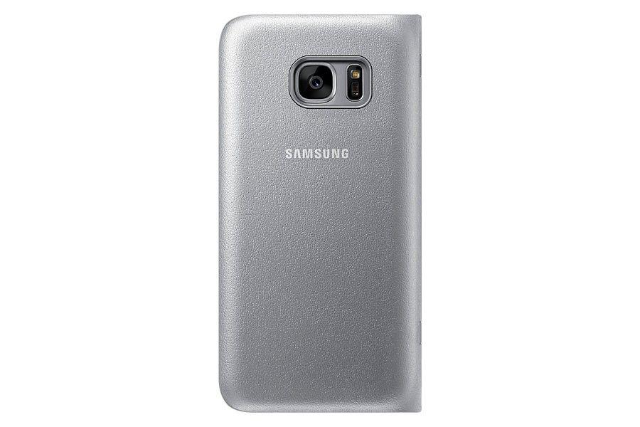 Чехол Samsung LED View для Galaxy S7 Edge Silver (EF-NG935PSEGRU) - 4