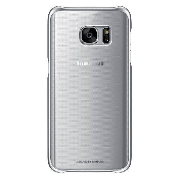 Чехол Samsung Clear Cover для Galaxy S7 Edge Silver (EF-QG935CSEGRU) - 1