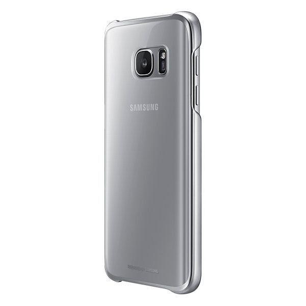 Чехол Samsung Clear Cover для Galaxy S7 Edge Silver (EF-QG935CSEGRU) - 3