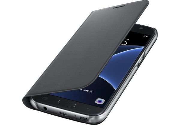 Чехол Samsung Flip Wallet для Galaxy S7 Edge Black (EF-WG935PBEGRU ) - 1