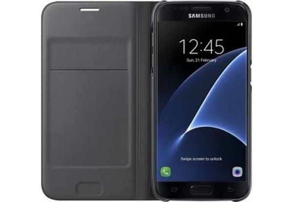 Чехол Samsung Flip Wallet для Galaxy S7 Edge Black (EF-WG935PBEGRU ) - 3