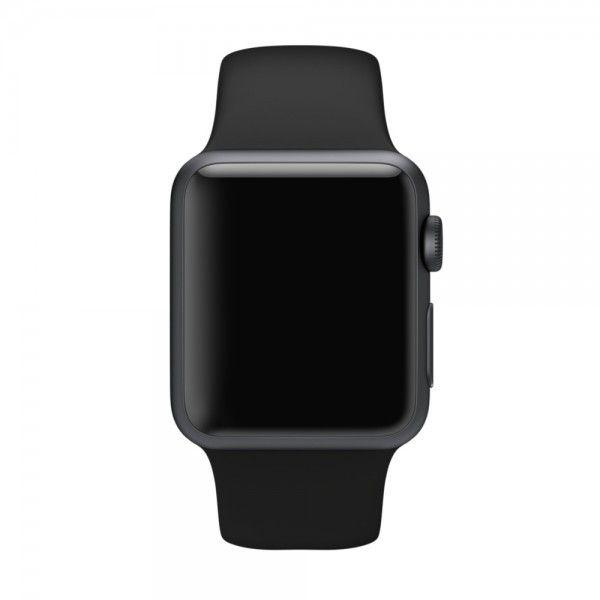 Ремешок Sport with Space Gray Pin из нержавеющей стали для Apple Watch 38мм (MJ4G2) Black - 1