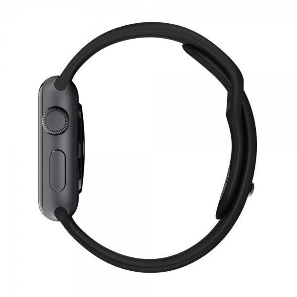 Ремешок Sport with Space Gray Pin из нержавеющей стали для Apple Watch 38мм (MJ4G2) Black - 2
