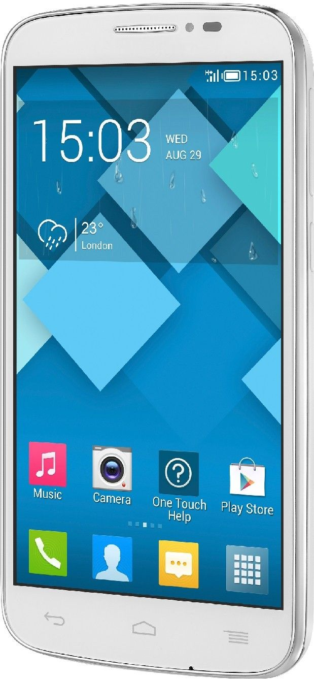 Мобильный телефон Alcatel One Touch 7041D POP C7 Dual Sim White - 5