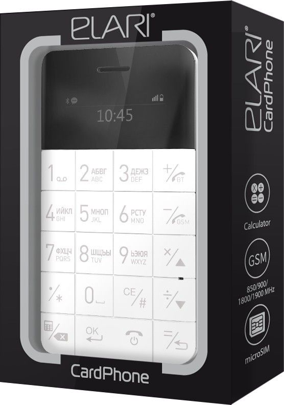 Мобильный телефон Elari CardPhone White (LR-CP-WHT) - 1