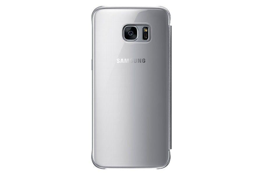 Чехол Samsung Clear View Cover для Galaxy S7 Edge Silver (EF-ZG935CSEGRU) - 1