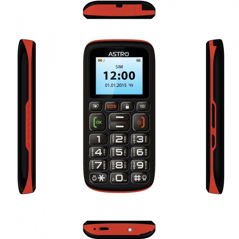 Мобильный телефон Astro B181 Black/Orange - 2